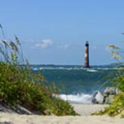 Morris Island Lighthouse Walkway Art Print