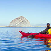 Morro Bay Kayaker Art Print