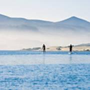 Morro Bay Paddle Boarders Art Print