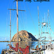 Morro Rock Morro Bay California Art Print