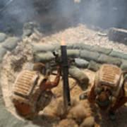 Mortar Crew In Action Art Print