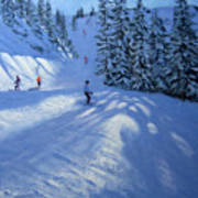 Morzine Ski Run Art Print