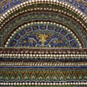 Mosaic And Shell Fountain Getty Villa Malibu California Art Print