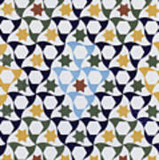 Mosaic From The Portico Of The Generalife Art Print