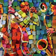Mosaic Jazz Art Print