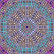 Mosaic Kaleidoscope  Art Print