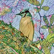 Mosaic Of Blue Jay Art Print