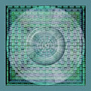 Mosaicea In Blue Art Print