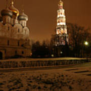 Moscow Cathedral Of Our Lady Of Smolensk Art Print