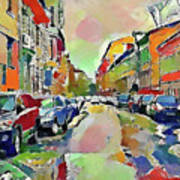 Moscow Color Rain Art Print