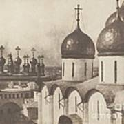 Moscow, Domes Of Churches In The Kremlin Art Print