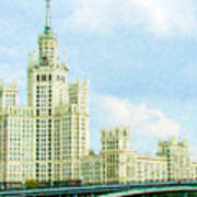 Moscow High-rise Building Art Print