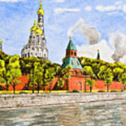 Moscow River Art Print
