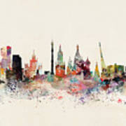 Moscow Russia Skyline Art Print