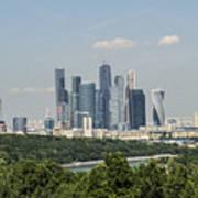Moscow Skyline Art Print