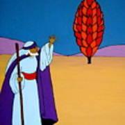 Moses And The Burning Bush Art Print