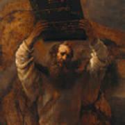 Moses With The Ten Commandments Art Print
