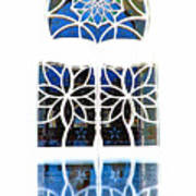 Mosque Foyer Window 1 White Art Print