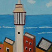 Mosque Seen From Jaffa Restaurant   Art Print