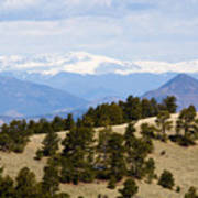 Mosquito Range Mountains From Bald Mountain Colorado Art Print
