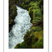 Mossy Rocks And Stream Poster Art Print