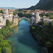 Mostar, Bosnia And Herzegovina.  Stari Most.  The Old Bridge. Art Print