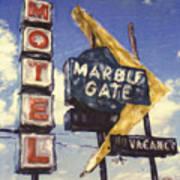 Motel Marble Gate Art Print