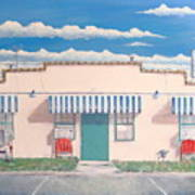 Motel Six . 1989 Art Print by Wingsdomain Art and Photography