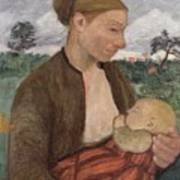 Mother And Child Art Print by Paula Modersohn Becker