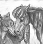 Mother And Foal Art Print