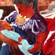 Mother And Newborn Child Art Print