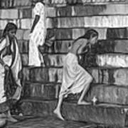 Mother Ganges - Paint Bw Art Print