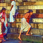 Mother Ganges - Paint Art Print