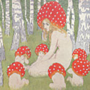b399f9cffcfb Mother Mushroom With Her Children Drawing by Edwars Okun