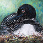 Mother Nature And The Loon Art Print