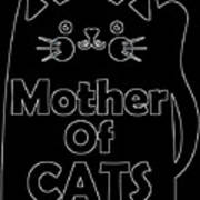 Mother Of Cats 2 Art Print