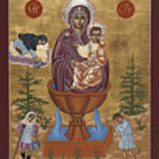 Mother Of God Life Giving Spring With Mother Macaria Of Russia And Blessed Margaret Of Castello 179 Art Print