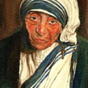 Mother Teresa  Art Print by Carole Spandau