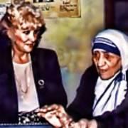 Mother Teresa In Calcutta Art Print