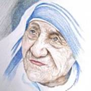 Mother Theresa Art Print