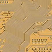 Motherboard - Printed Circuit Art Print by Michal Boubin