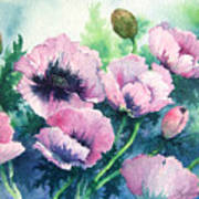 Mother's Prize Poppies  Art Print