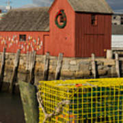 Motif 1 At Christmas, Rockport, Ma Art Print