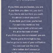 Motivational Poem - The Victor Art Print