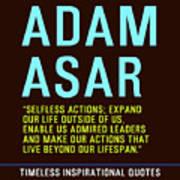 Motivational Quotes - Adam Asar Art Print