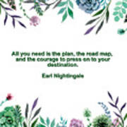 Motivational Quotes - All You Need Is The Plan Art Print