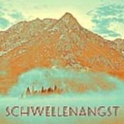 Motivational Travel Poster - Schwellenangst 2 Art Print