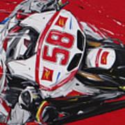 Moto Gp Simoncelli Honda 58 Art Print