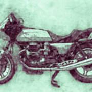 Moto Guzzi Le Mans 3 - Sports Bike - 1976 - Motorcycle Poster - Automotive Art Art Print