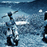 Motor Scooters In Greece Art Print